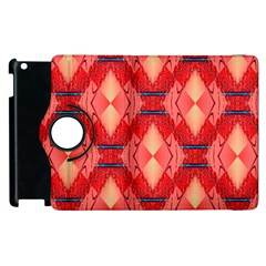 Orange Fractal Background Apple iPad 2 Flip 360 Case