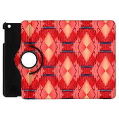 Orange Fractal Background Apple iPad Mini Flip 360 Case