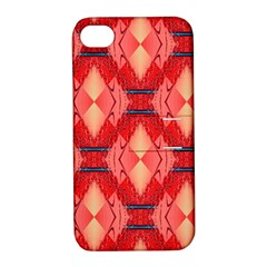 Orange Fractal Background Apple iPhone 4/4S Hardshell Case with Stand