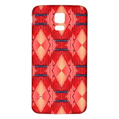 Orange Fractal Background Samsung Galaxy S5 Back Case (white)