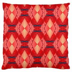 Orange Fractal Background Large Flano Cushion Case (Two Sides)