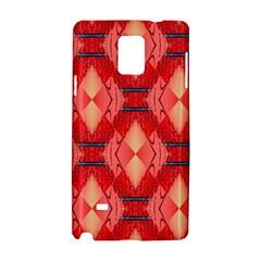 Orange Fractal Background Samsung Galaxy Note 4 Hardshell Case