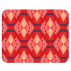 Orange Fractal Background Double Sided Flano Blanket (Medium)
