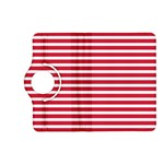 Horizontal Stripes Red Kindle Fire HD (2013) Flip 360 Case Front
