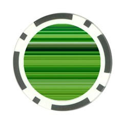 Horizontal Stripes Line Green Poker Chip Card Guard