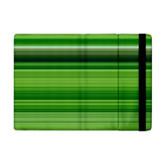 Horizontal Stripes Line Green Apple Ipad Mini Flip Case