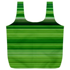 Horizontal Stripes Line Green Full Print Recycle Bags (l)