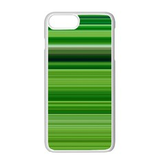 Horizontal Stripes Line Green Apple Iphone 7 Plus White Seamless Case