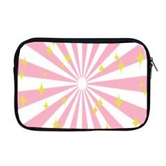 Hurak Pink Star Yellow Hole Sunlight Light Apple Macbook Pro 17  Zipper Case