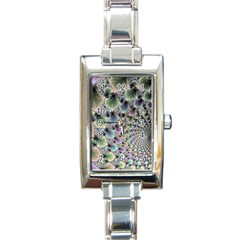 Beautiful Image Fractal Vortex Rectangle Italian Charm Watch