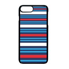 Martini Style Racing Tape Blue Red White Apple Iphone 7 Plus Seamless Case (black)