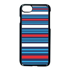 Martini Style Racing Tape Blue Red White Apple Iphone 7 Seamless Case (black)
