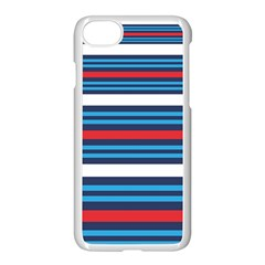 Martini Style Racing Tape Blue Red White Apple Iphone 7 Seamless Case (white)