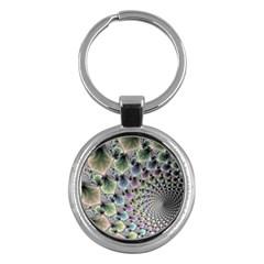 Beautiful Image Fractal Vortex Key Chains (round)