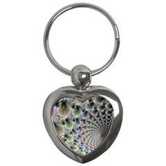 Beautiful Image Fractal Vortex Key Chains (heart)