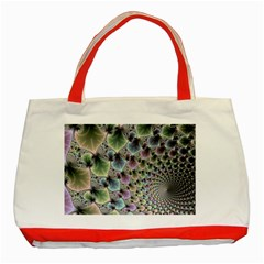 Beautiful Image Fractal Vortex Classic Tote Bag (red)