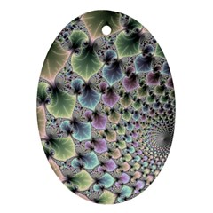Beautiful Image Fractal Vortex Oval Ornament (two Sides)