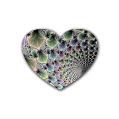 Beautiful Image Fractal Vortex Rubber Coaster (heart)