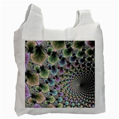 Beautiful Image Fractal Vortex Recycle Bag (two Side)