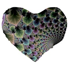 Beautiful Image Fractal Vortex Large 19  Premium Heart Shape Cushions