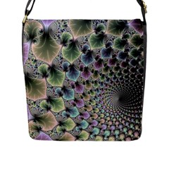 Beautiful Image Fractal Vortex Flap Messenger Bag (L)