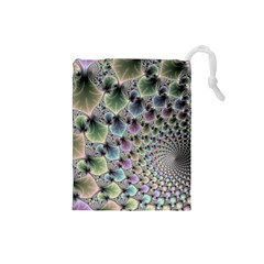 Beautiful Image Fractal Vortex Drawstring Pouches (Small)