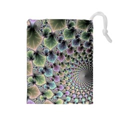 Beautiful Image Fractal Vortex Drawstring Pouches (Large)