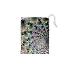 Beautiful Image Fractal Vortex Drawstring Pouches (XS)