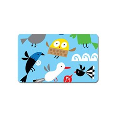 New Zealand Birds Close Fly Animals Magnet (name Card)