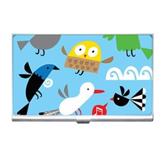 New Zealand Birds Close Fly Animals Business Card Holders