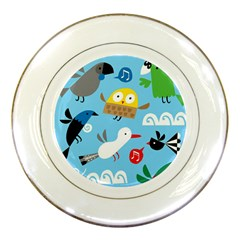 New Zealand Birds Close Fly Animals Porcelain Plates
