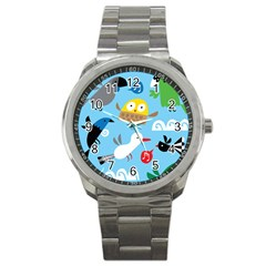 New Zealand Birds Close Fly Animals Sport Metal Watch