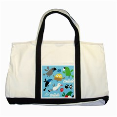 New Zealand Birds Close Fly Animals Two Tone Tote Bag