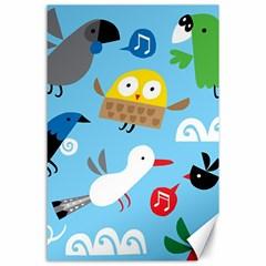New Zealand Birds Close Fly Animals Canvas 24  X 36