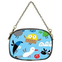 New Zealand Birds Close Fly Animals Chain Purses (two Sides)
