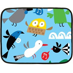 New Zealand Birds Close Fly Animals Fleece Blanket (mini)