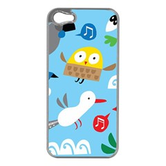 New Zealand Birds Close Fly Animals Apple Iphone 5 Case (silver)