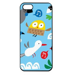 New Zealand Birds Close Fly Animals Apple Iphone 5 Seamless Case (black)