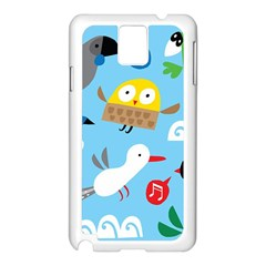 New Zealand Birds Close Fly Animals Samsung Galaxy Note 3 N9005 Case (white)