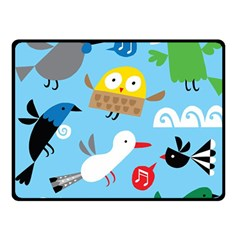 New Zealand Birds Close Fly Animals Double Sided Fleece Blanket (small)