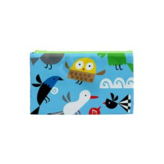 New Zealand Birds Close Fly Animals Cosmetic Bag (xs)