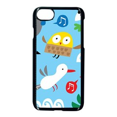 New Zealand Birds Close Fly Animals Apple Iphone 7 Seamless Case (black)