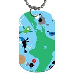 New Zealand Birds Detail Animals Fly Dog Tag (one Side)