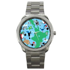 New Zealand Birds Detail Animals Fly Sport Metal Watch