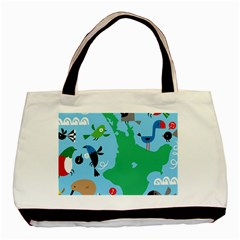 New Zealand Birds Detail Animals Fly Basic Tote Bag