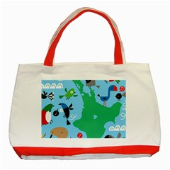 New Zealand Birds Detail Animals Fly Classic Tote Bag (red)