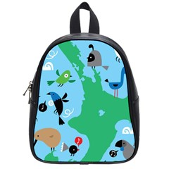 New Zealand Birds Detail Animals Fly School Bags (small)