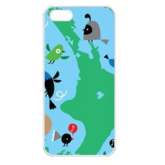 New Zealand Birds Detail Animals Fly Apple Iphone 5 Seamless Case (white)
