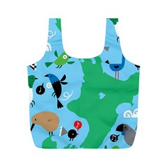 New Zealand Birds Detail Animals Fly Full Print Recycle Bags (m)