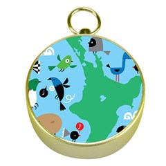 New Zealand Birds Detail Animals Fly Gold Compasses